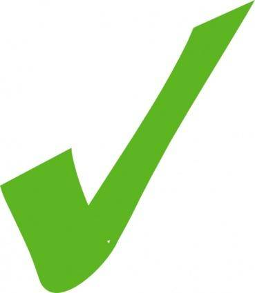 Green Check Mark clip art