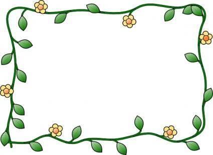 free vector Flower Frame clip art