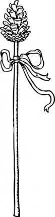 Thyrsus Plant clip art