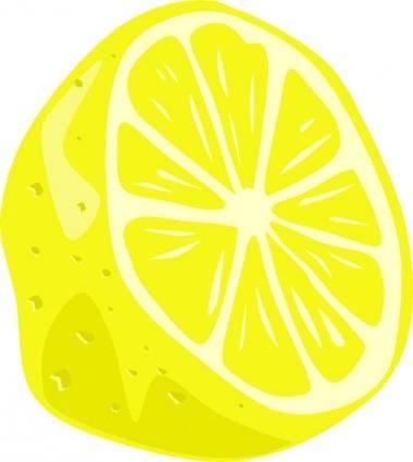 Lemon (half) clip art