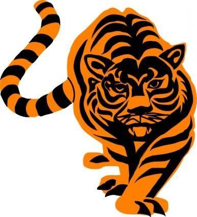 Tigre02 clip art