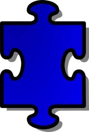 Jigsaw Blue Puzzle Piece clip art