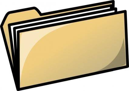 Yellow Folder clip art