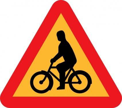 free vector Bicycles Roadsign clip art
