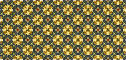 free vector Classic tile pattern vector-7