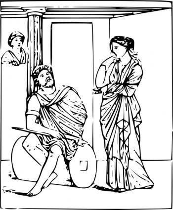 free vector Return Of Odysseus clip art