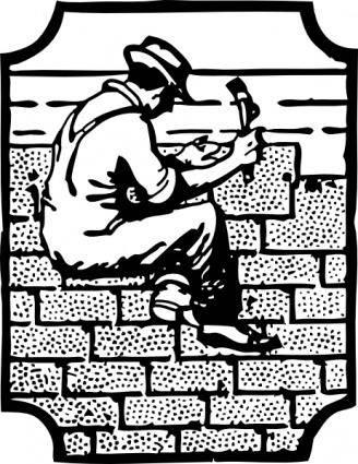 free vector Roofer Worker Employee clip art