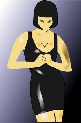 Women Black Clothing clip art 120655
