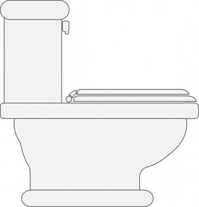 free vector Toilet Seat Closed clip art