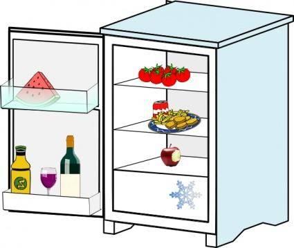 free vector Fridge With Food Jhelebrant clip art