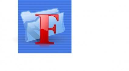 F Folder Icon clip art