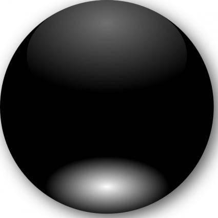 Mi Brami Round Black Crystal Button clip art