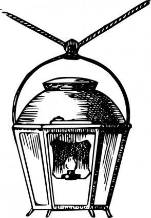 free vector Hanging Gas Lantern clip art