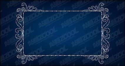 Vector diamond beautiful lace material