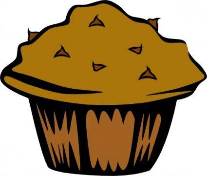 free vector Double Chocolate Muffin clip art