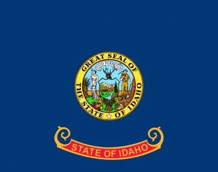 free vector Us-idaho-flag clip art