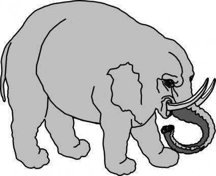 Elephant Filled clip art