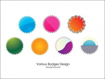 7 Web 2.0 Badges Vector Download