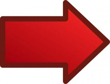 Red Arrows Set Right clip art 120747