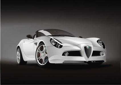free vector Alfa Romeo 8c Spider