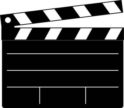 Clapper-board clip art 120771