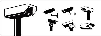 free vector CCTV monitoring element vector