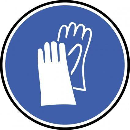 free vector Wear Gloves clip art