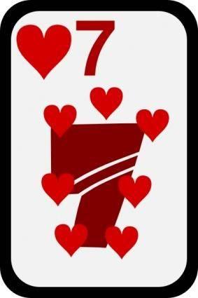 free vector Seven Of Hearts clip art