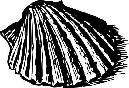Scallop Shell clip art