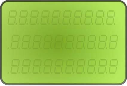 Lcd Display Green clip art