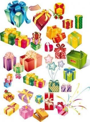 free vector Many gift box