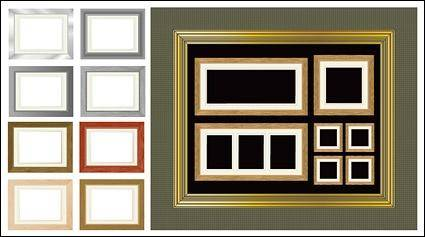 Variety of material frame vector