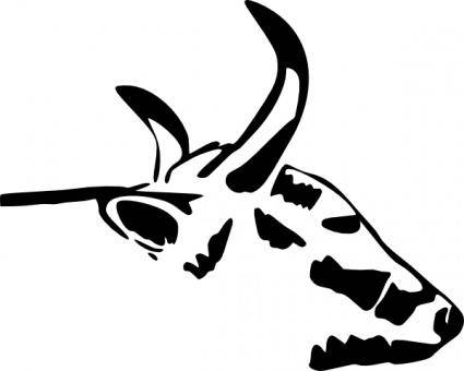 free vector Cow Head clip art