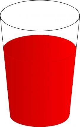 Drinking Glass, With Red Punch clip art