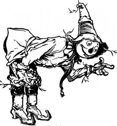 Scarecrow Bowing clip art