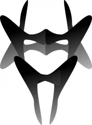 Devilish Mask clip art