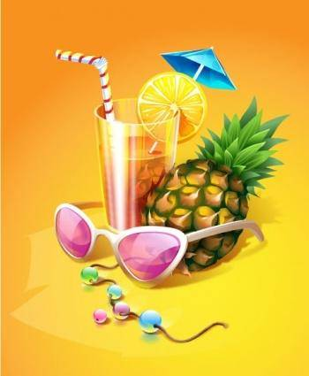 free vector Tropical Cocktail