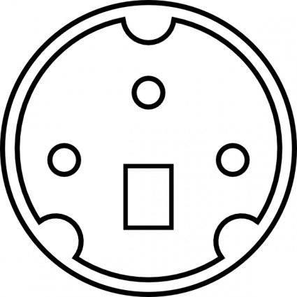 Minidin Diagram clip art
