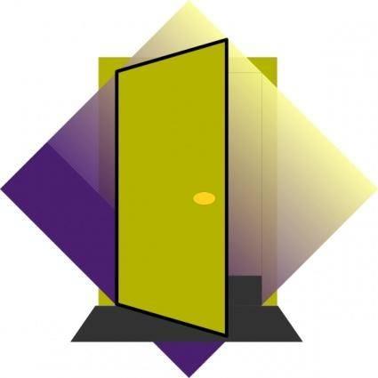 free vector Door clip art