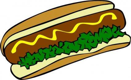free vector Hot Dog clip art