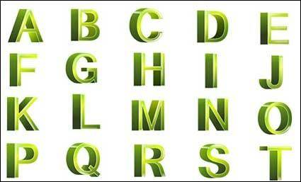 free vector Letters and three-dimensional digital vector (Revised Edition)