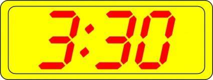 Digital Clock 3:30 clip art