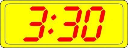 free vector Digital Clock 3:30 clip art