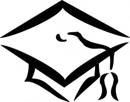 free vector Graduation Clothing Cap clip art