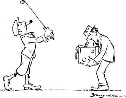 Golfer Posing clip art