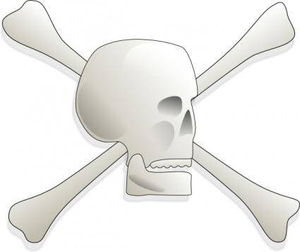 Skull-and-bones-aj clip art