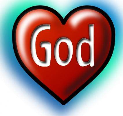 free vector God Heart clip art