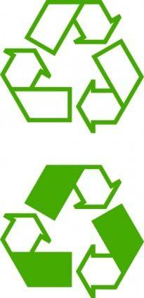 Recycle Icons clip art
