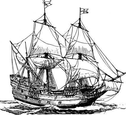 Carrack Ship clip art