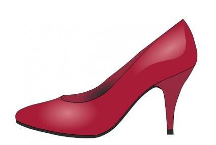 High Heels Red Shoe clip art